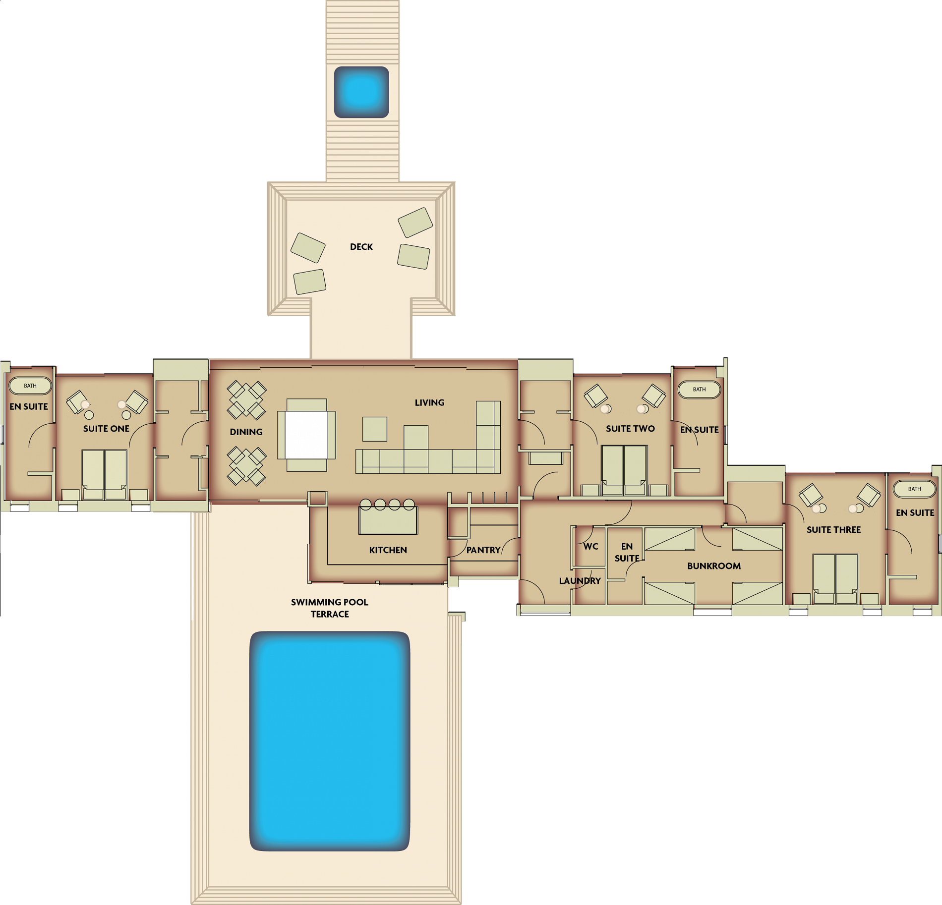Floorplan of Scrubby Bay